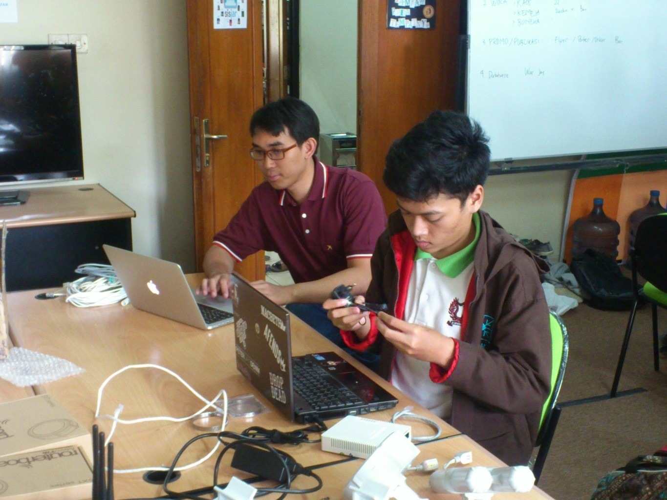 August 2013, setup mikrotik lab at Telkom University
