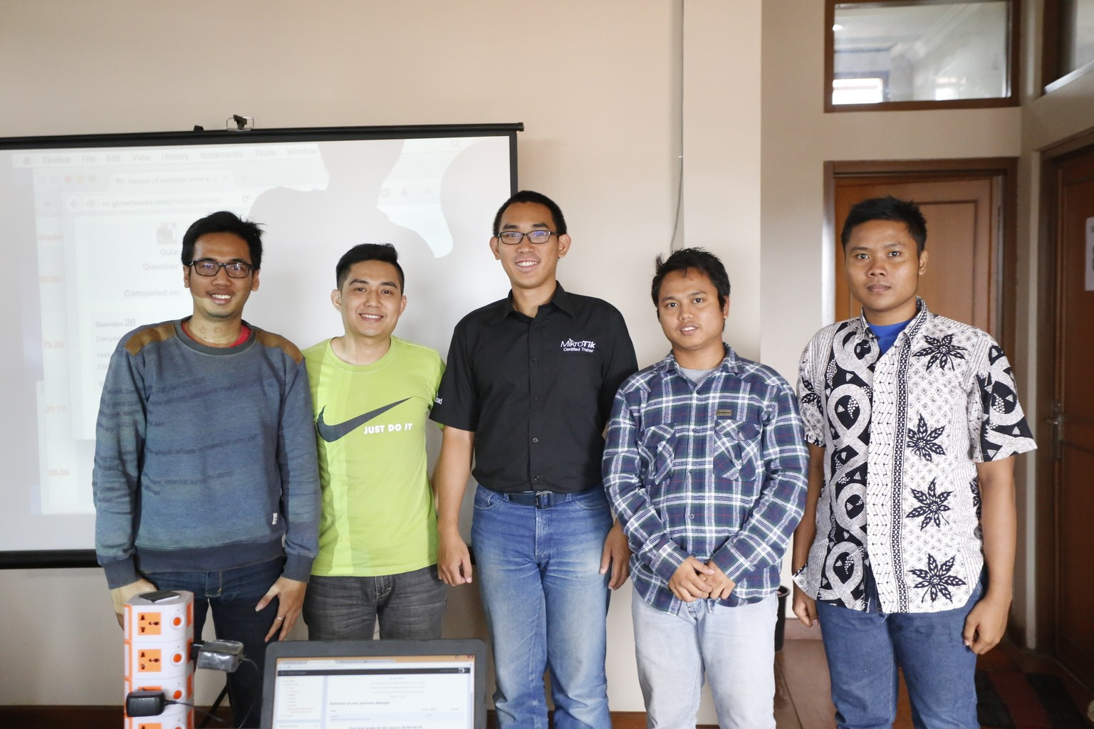 January 2016, Mikrotik MTCNA training, Bandung