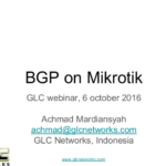October 2016, GLC webinar: BGP on Mikrotik