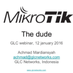 Jan 2017, GLC webinar: The Dude
