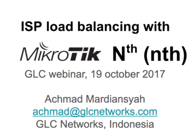 October 2017, ISP load balancing with Mikrotik Nth