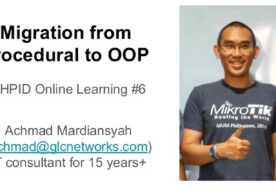 April 2020, PHPID Online Learning: Migration from Procedural to OOP