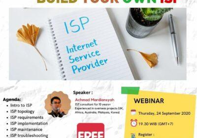 """September 2020, Webinar """"Build your own ISP"""""""