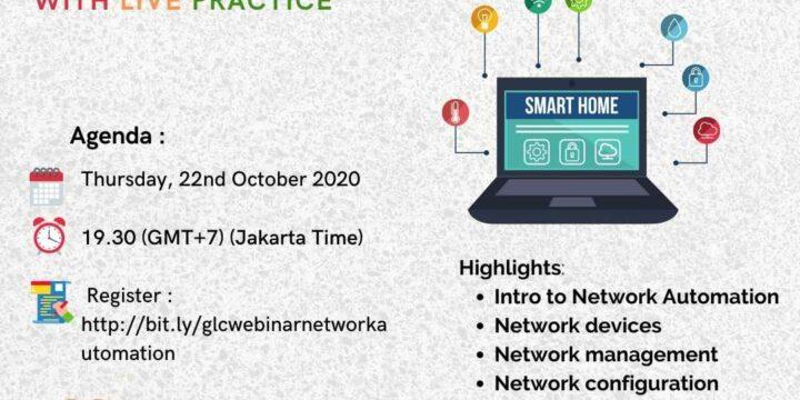 "October 2020, Webinar ""Network Automation"""