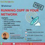 """November 2020, Webinar """"RUNNING OSPF IN YOUR NETWORK"""""""