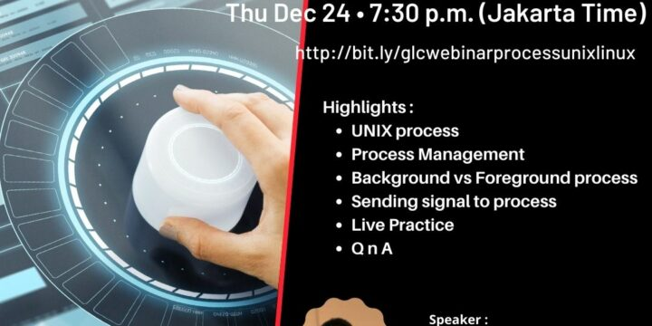 "December 2020, Webinar ""Managing Process in Unix/Linux"""
