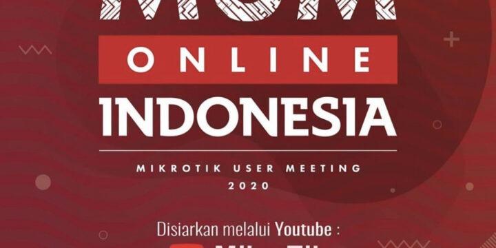 October 2020, Mikrotik User Meeting (MUM) Online Indonesia