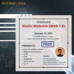 "January 2021, Webinar ""STATIC WEBSITE (WEB 1.0)"""