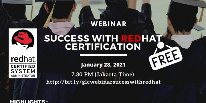 "January 2021, Webinar ""Sucess with Redhat Certification"""
