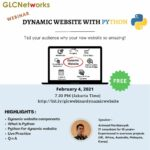 "February 2021, Webinar ""Dynamic Website with Python"""