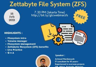 "February 2021, Webinar ""Zettabyte File System"""