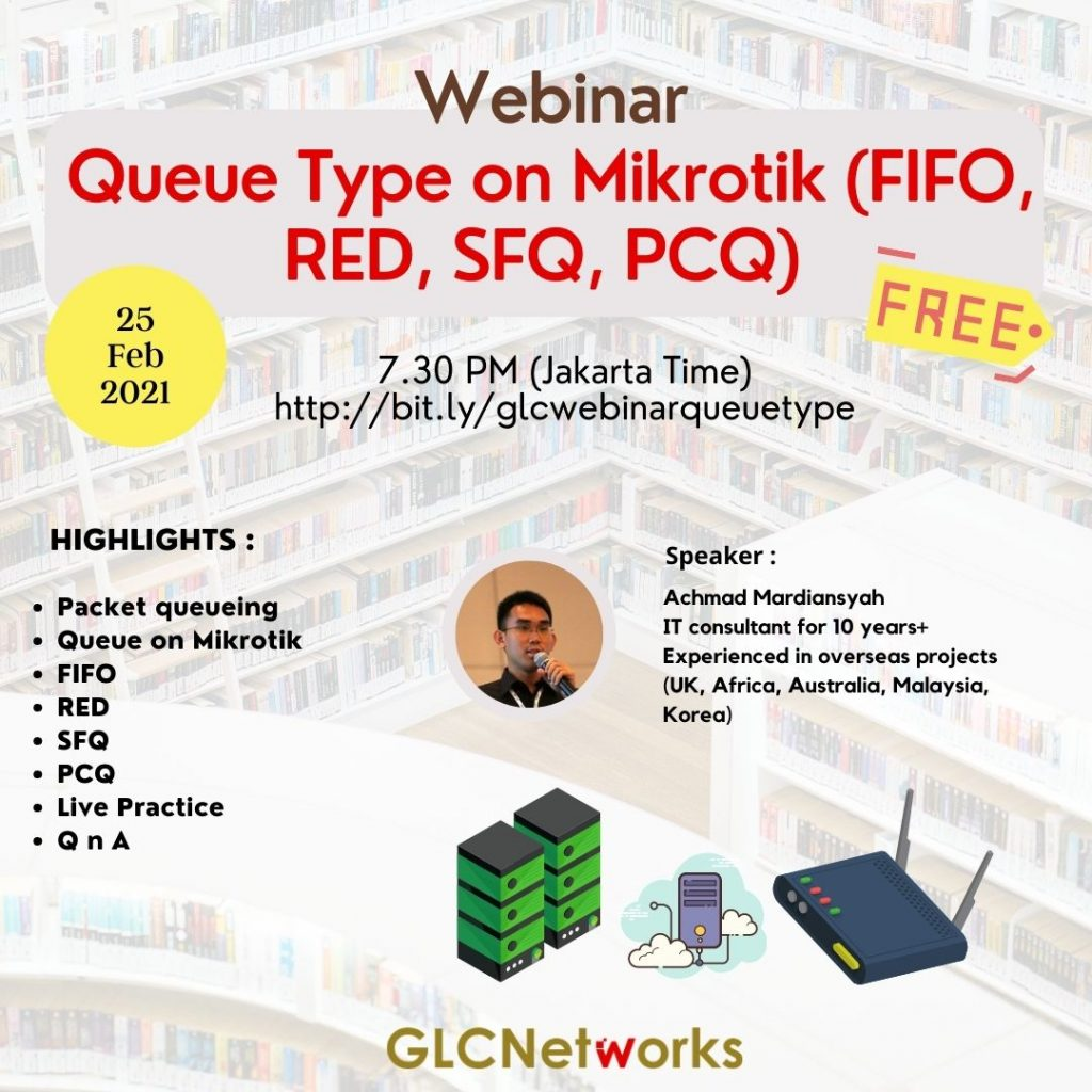 Queue type on mikrotik (FIFO, RED, SFQ, PCQ)