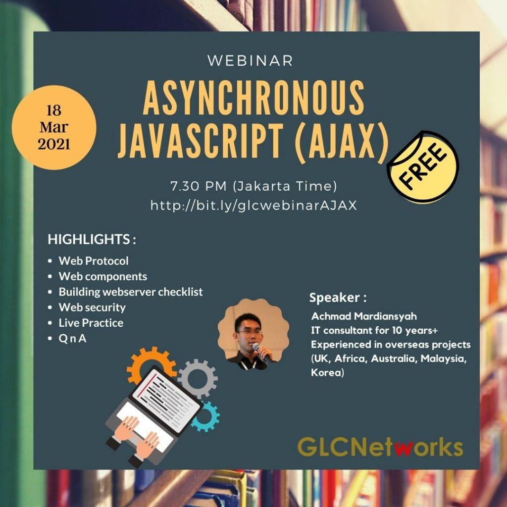 20210318 glcwebinar Asynchronous Javascript (AJAX)
