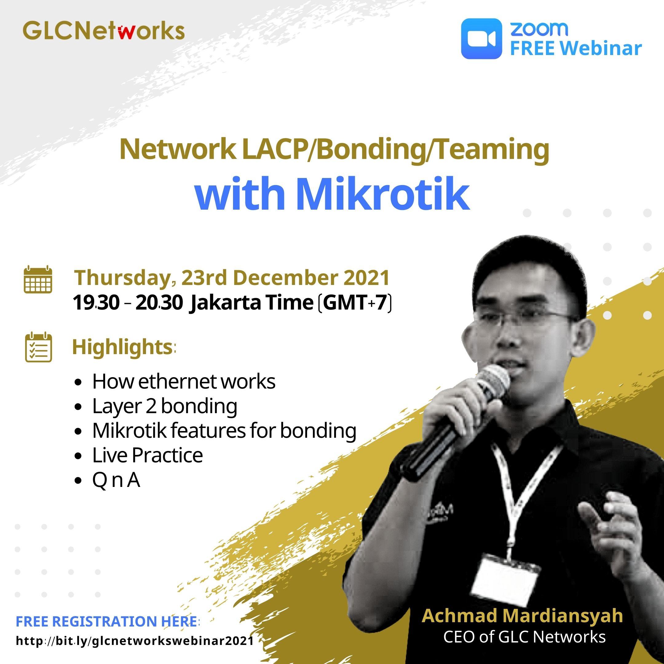 Network LACPBondingTeaming with Mikrotik